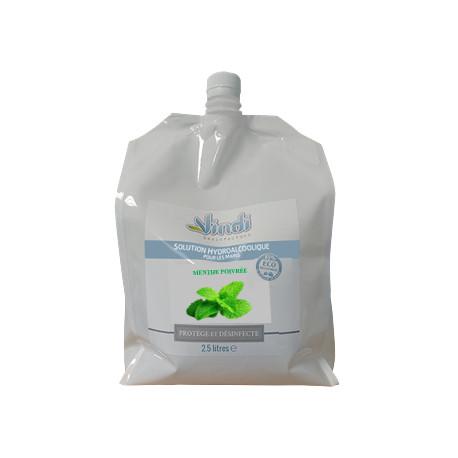 Eco-recharge solution hydroalcoolique Menthe Poivrée - 1L