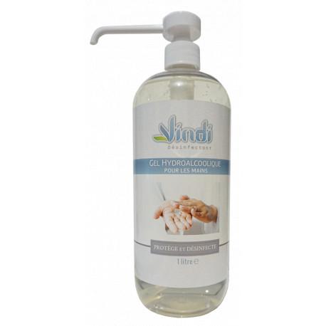 Flacon gel hydroalcoolique - 1L